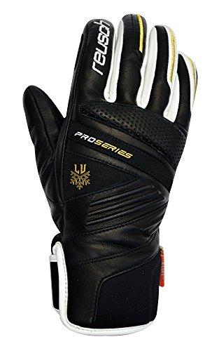 Reusch Racing Gloves - Reusch Snowsports Lindsey ski Glove, Black, Medium