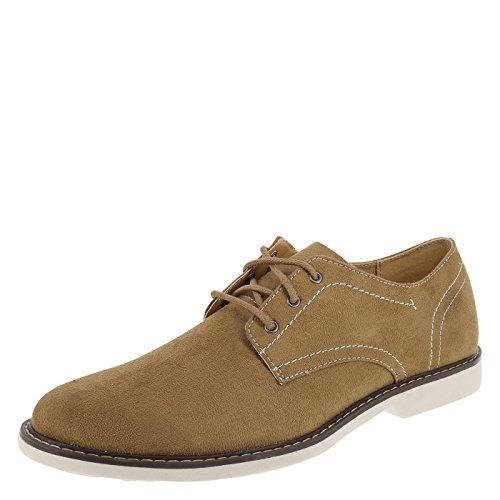 Dexter Tan Suede Men's Burt Plain-Toe Oxfords 11 ()