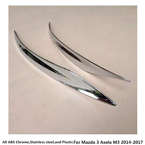 Bingo Point for Mazda 3 Axela M3 2014 2015 2016 2017 car Styling Body Rear Back Bumper Corner Protection Trim Frame Edge Board ABS Chrome by Bingo Point (Image #2)