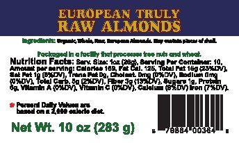 "Blue Mountain Organics, Raw, Sprouted, Organic, European ""Truly Raw"" Almonds, 10 oz"
