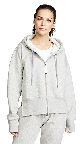 adidas by Stella McCartney Women's Essentials Hoodie, Marble Grey Heather, - Stella Shop Mccartney