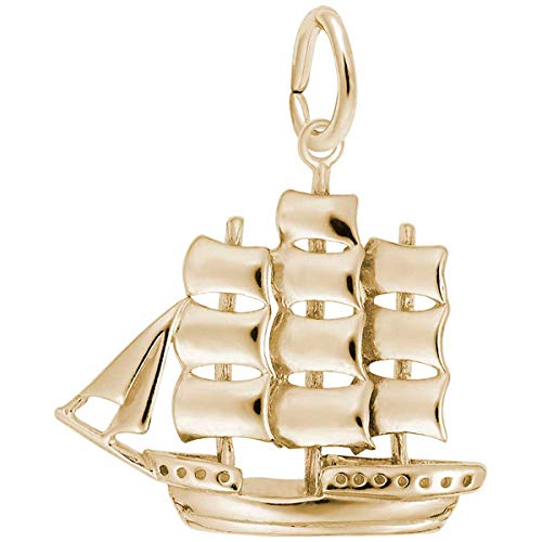 Rembrandt Charms Sailboat Charm, 14K Yellow Gold