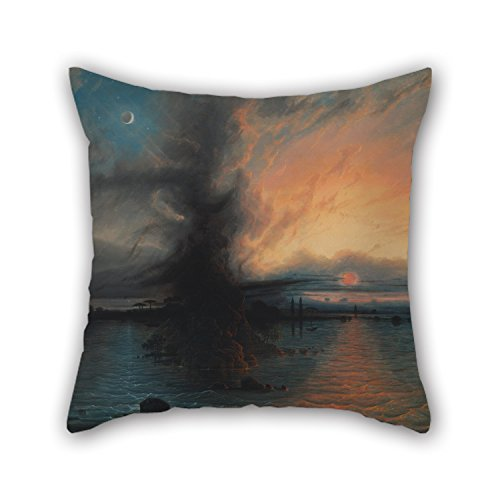 Throw Cushion Covers Of Oil Painting Samuel Colman - The Rock Of Salvation 18 X 18 Inches / 45 By 45 Cm Best Fit For Outdoor Girls Him Relatives Lounge Boy Friend 2 Sides