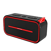SPARIN Bluetooth Speakers, Bluetooth 4.2/Built-in Mic/Dual 3W Acoustic Drivers/Water Resistant Portable Outdoor Wireless Stereo Speaker for Sports, Outdoor Activities and Home Use, Black