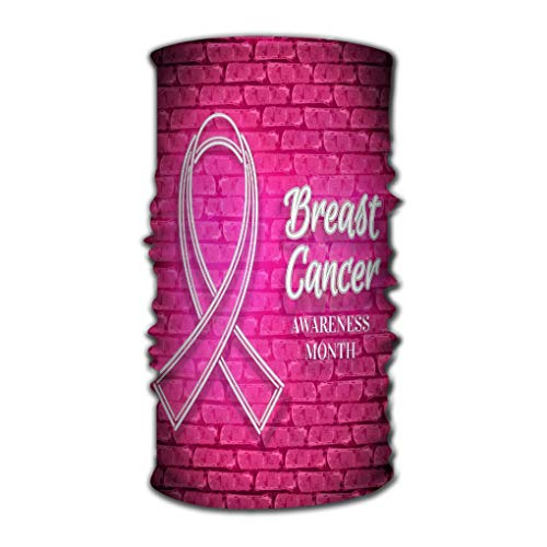Multifunctional Head Scarf, Face Mask, Magic Scarf, Sweatband Fishing, Yoga, Running, Motorcycling Breast Cancer Awareness Month Emblem White Ribbon sym