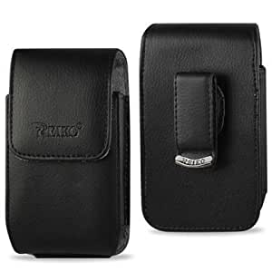 Cerhinu Vertical Reiko Black Leather Case Pouch Cover Skin for Nokia N8