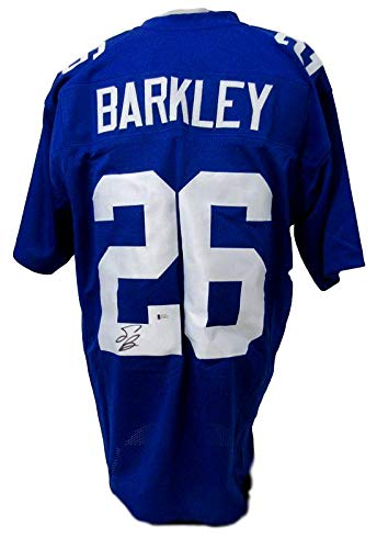 low priced 1b8d9 3eafe Saquon Barkley New York Giants Autographed/Signed Blue ...