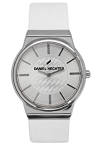 Daniel Hechter Women`s White Dial Leather Band Watch [DHD 001/BB]