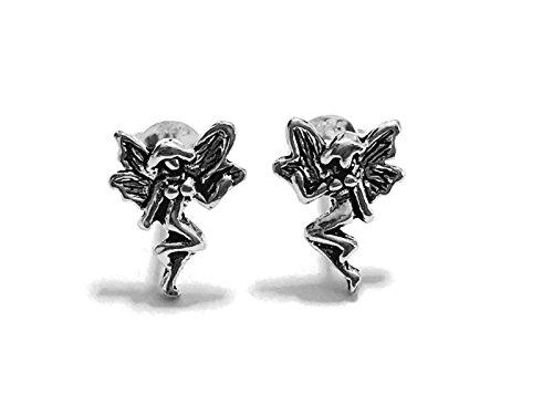 20 Gauge (0.8mm) 925 Sterling Silver Earring Cartilage Women Girl Woman Ear Stud Helix Tragus Fairy Angel 1/2