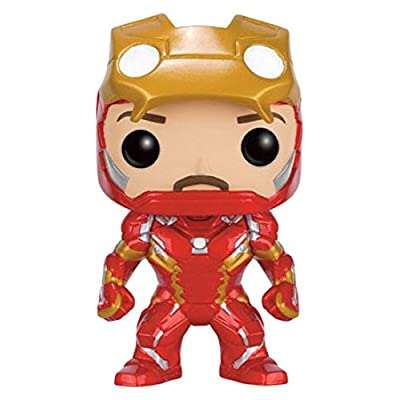 Funko POP! Marvel Captain America Civil War : Iron Man Unmasked #136 Vinyl Figure: Toys & Games