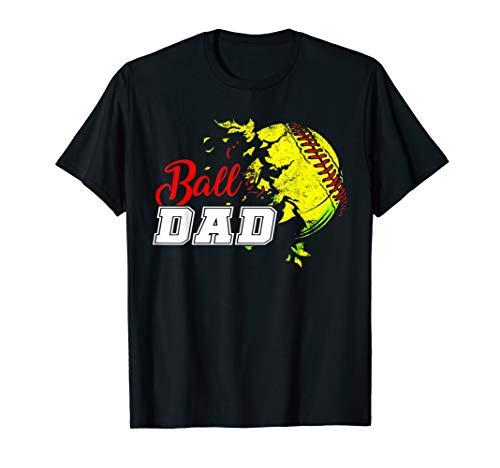 (Ball Dad Shirt Softball Baseball Funny Player Men Women)