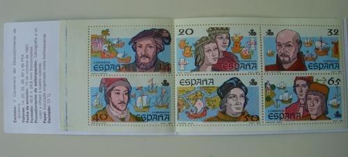 QUINTO CENTENARIO DEL DESCUBRIMIENTO DE AMERICA. 6 Sellos, valores: 14, 20, 32, 40, 50 y 65 pta.: Amazon.es: Sin autor: Libros