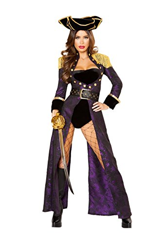 4pc Pirate Queen Costume with Complimentary Shorts by Rave Outfits