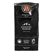 Kicking Horse Coffee - Organic Fairtrade Whole Bean Coffee Grizzly Claw Dark Roast - 10 oz.