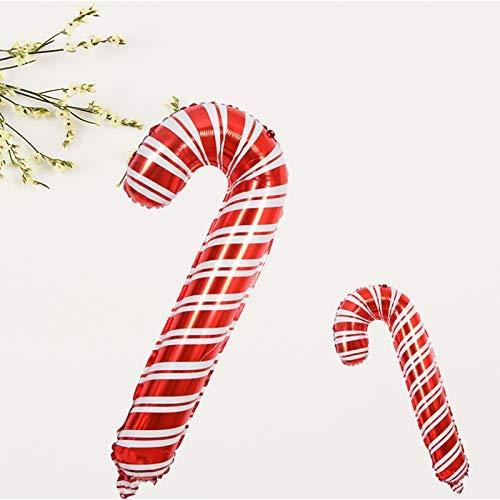 1PC LAAT Ballons de No/ël en Aluminium Feuille de Bonbons de No/ël Forme de Canne B/équilles Cadeau de No/ël pour D/écoration de f/ête de no/ël