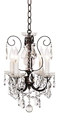 Schonbek 3648-76H Swarovski Lighting New Orleans Chandelier, Heirloom Bronze
