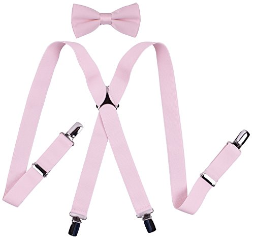YJDS Boys' Suspenders and Bow Tie Sets Solid