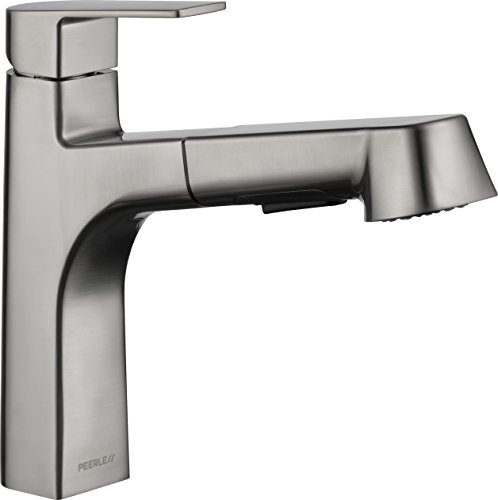 Peerless Xander Pull Out Kitchen Sink Faucet with Pull Out Sprayer, Stainless P6919LF-SS