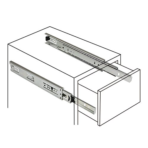 2 Pairs 22 inch Full Extension Side Mount Drawer Slides 3-Folds Ball Bearing Heavy Duty 100 lb Thickness:1.01.01.2mm by Probrico (Image #1)
