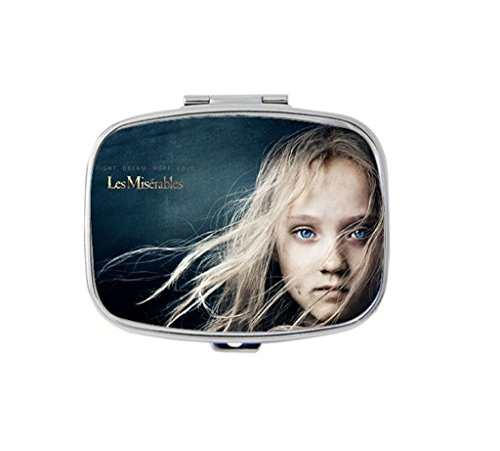 Young Cosette - Les Miserables Custom Fashion Square Pill Box Medicine Tablet Holder Organizer Case