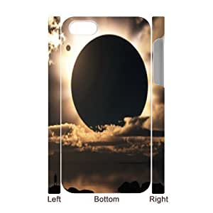 Sun Moon Space Discount Personalized 3D Cell Phone Case for iPhone 4,4S, Sun Moon Space iPhone 4,4S 3D Cover