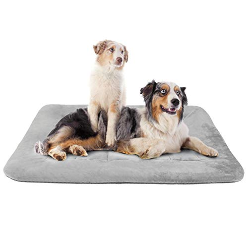 Hero Dog Large Dog Bed Crate Pad Mat 47 Inch Washable Matteress Anti Slip Cushion for Pets Sleeping Grey XL