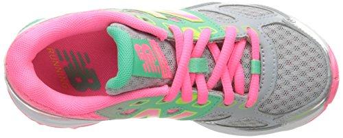 New Balance Kids KR680 Running Shoe Grey/Pink