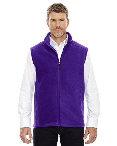 - Ash City - Core 365 Core 365 JourneyMen's Tricot-Lined Pockets Fleece Vest, Campus Purple, Large