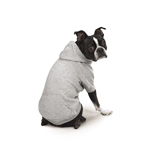 Zack & Zoey Basic Hoodie for Dogs, 24'' X-Large, Heather Gray by Zack & Zoey (Image #2)