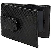Würkin Stiffs RFID Leather Carbon Money Clip Wallet