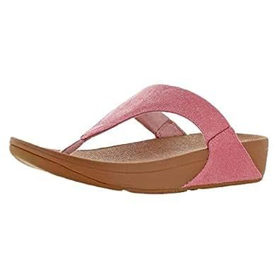 FitFlop Womens K63 Lulu Toe-Thong Sandals - Shimmer-Denim Pink Size: 7