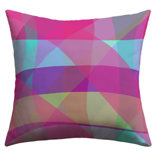 """DENY Designs Paula Ogier """"Mad for Plaid"""" Outdoor Throw Pillow, 20 by 20-Inch"""