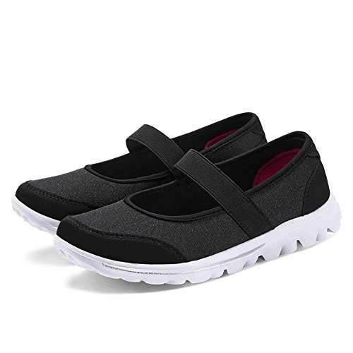Casual Lightweight Athletic Sneakers Shoes Women Black Enllerviid Mesh 7pwHWq7I