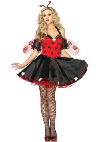 Leg Avenue Women's Daisy Lady Bug Costume, Red/Black, Small/Medium -