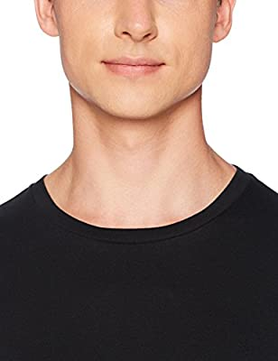 Amazon Essentials Men's 6-Pack Crewneck Undershirts, Black, X-Large