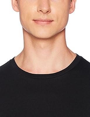 Amazon Essentials Men's 6-Pack Crewneck Undershirts, Black, Medium