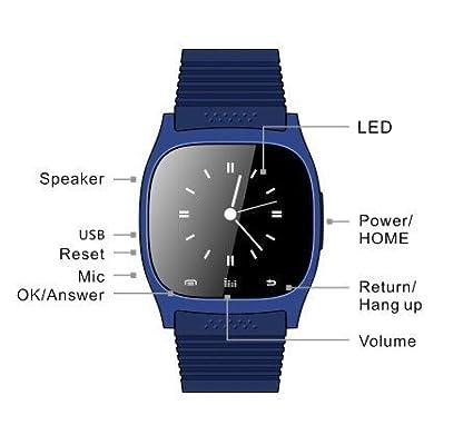 Rwatch M26 inteligente Reloj Bluetooth del teléfono Conveniente para los teléfonos Android / Contestación de llamadas / SMS El recordar / reproductor de ...
