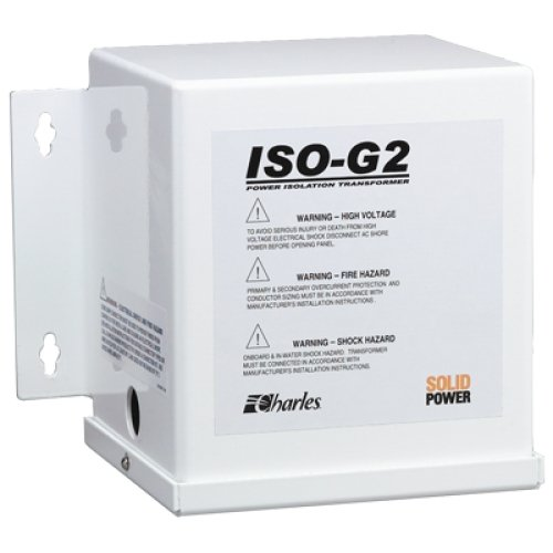 CHARLES MARINE ISO-G2 IsolationTransformer, MFG# 93-ISOG2/6-A, 3.6Kva 30Amp 120Vac, with terminal blocks. / CM-93-ISOG2/6-A /