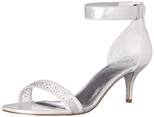 Adrianna Papell Womens Avril Dress Sandal Silver