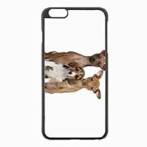 iPhone 6 Plus Black Hardshell Case 5.5inch - dog eared Desin Images Protector Back Cover