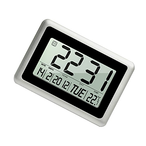 Digital Alarm Clock Heqiao Decorative Large Lcd Wall