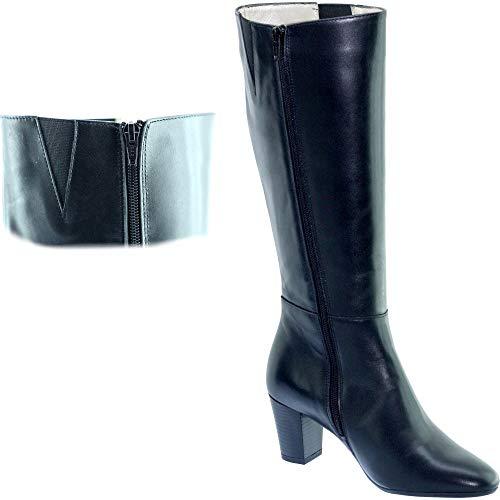 Free Allarme a Hospitality donna Uniform Punta Gatwick Black Tacco Pumps scarpe da spillo Comode Leather Waxed tonda Boot qEtx48w4