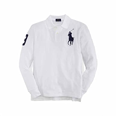 Polo Ralph Lauren Boys (8-20) Big Pony Shirt Long Sleeve Mesh Cotton