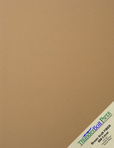 Natural 80 Lb Cover (150 Brown Kraft Fiber 80# Cover Paper Sheets - 8.5