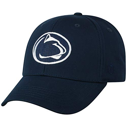 NCAA Penn State Nittany Lions Men's Fitted Relaxed Fit Team Icon Hat, Navy