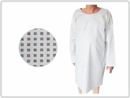 Bata de hospital, paciente albornoz, pijamas, camisón, Negro y verde patrón: Amazon.es: Amazon.es