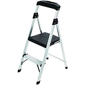 2 Step Aluminum Ultra Light Step Stool Ladder With Project