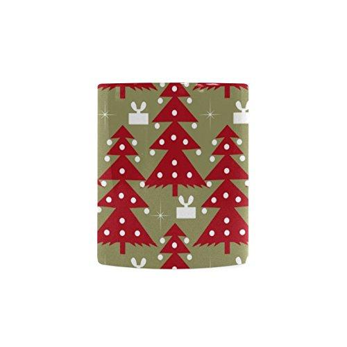 [Xmas Christmas Tree White Ceramic Coffee Mug Tea Cup] (Shredder Costume Pattern)