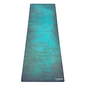 YOGA DESIGN LAB | THE COMBO YOGA MAT | 2-in-1 Mat+Towel | Eco Luxury | Designed in Bali | Ideal for Hot Yoga, Power, Bikram, Ashtanga, Sweat | Studio Quality | Includes Carrying Strap! (Aegean Green)