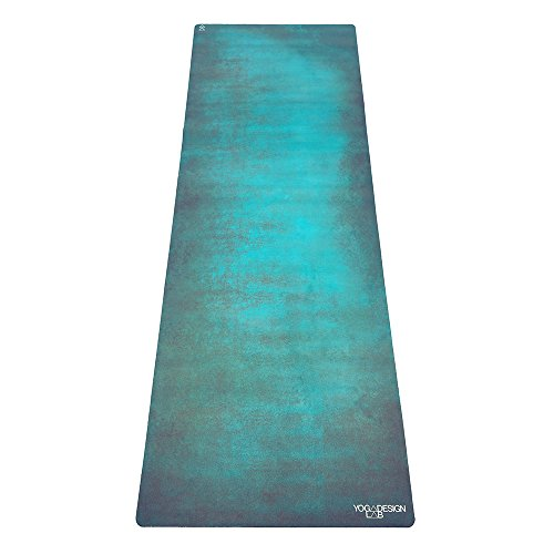 The Combo Yoga Mat. Luxurious, Non-Slip, Mat/Towel Designed to Grip Better w/Sweat! Machine Washable, Eco-Friendly. Ideal for Hot Yoga, Bikram, Ashtanga, or Sweaty Practice. (Aegean Green, 70 x 24)